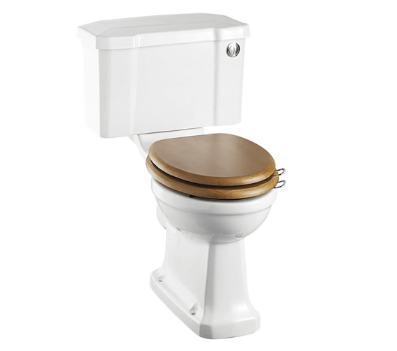 Burlington Slimline Closed Coupled WC Pan With 44cm Front Push Button Cistern
