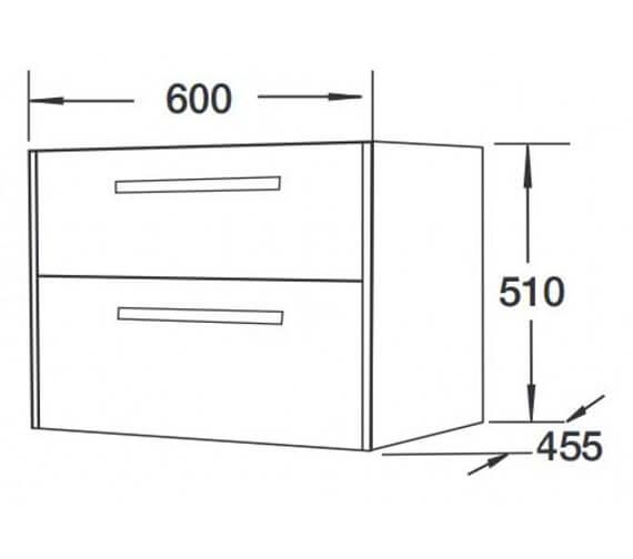 Technical drawing QS-V92124 / FH1088-600GW