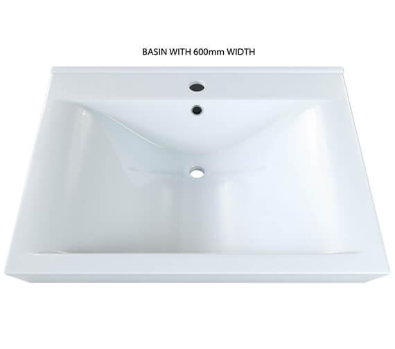 Aqva Lyon Square Countertop Basin 600mm - BBD Lyon 60