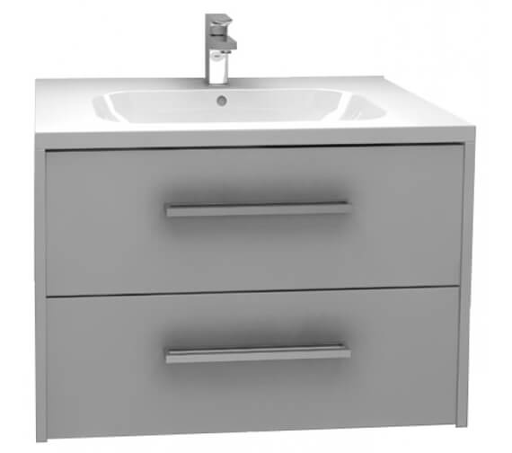 Alternate image of Pura Arco 750mm Wall Mounted Double Drawer Storage Cabinet With Basin