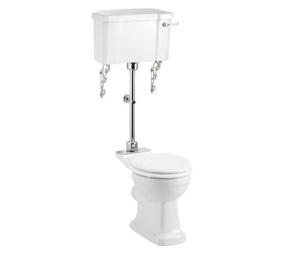 Burlington Rimless Pan With Ceramic Lever Cistern And Medium-Level Flush Pipe Kit
