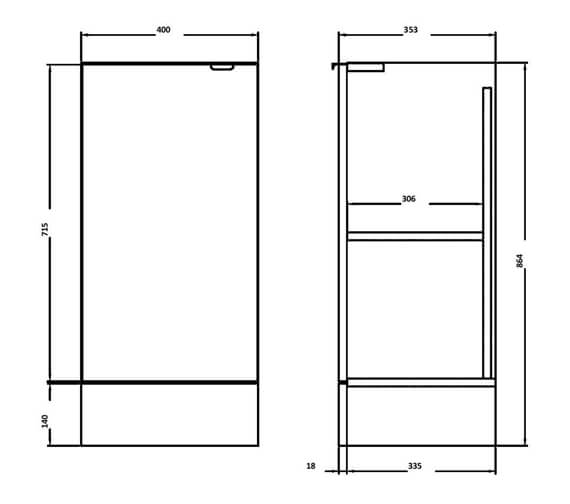 Technical drawing QS-V90172 / OFF184
