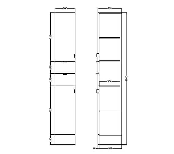 Technical drawing QS-V90156 / OFF162