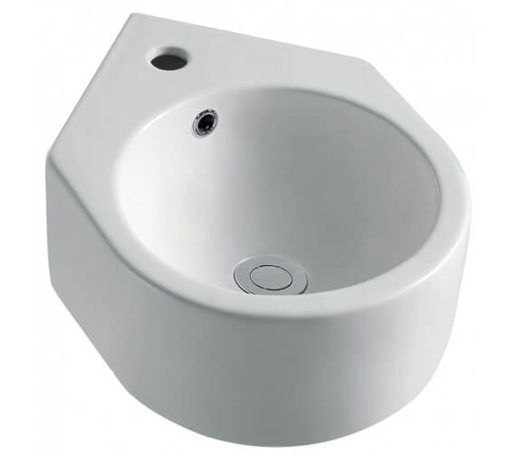 Pura Arco Cloakroom Corner Basin With 1 Tap Hole