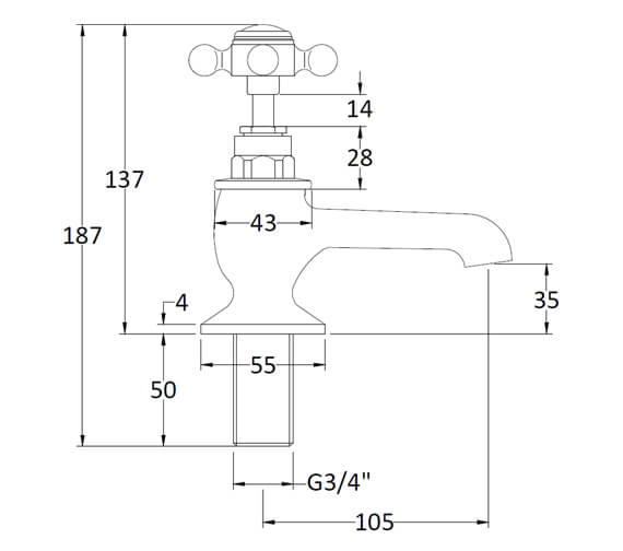 Technical drawing QS-V38743 / BC302DX