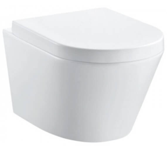 Pura Arco Rimless 520mm Projection Wall Hung WC Pan
