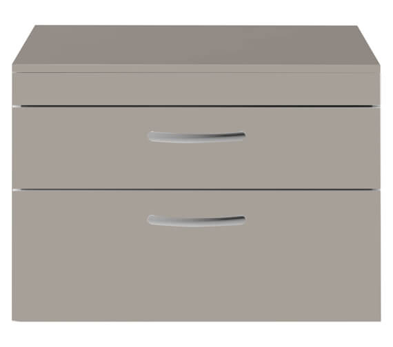 Additional image of Premier Athena 2 Drawer White 800mm Wall Hung Cabinet With Worktop