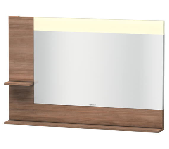 Alternate image of Duravit Vero 1200mm Mirror With Light And Shelves to Left Side And Below