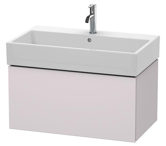 Alternate image of Duravit L-Cube 784mm White Matt Single Drawer Vanity Unit With Vero Air Basin