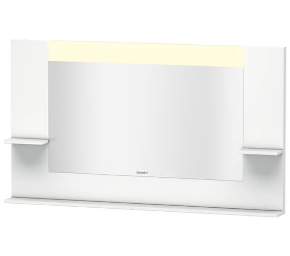 Duravit Vero 1400mm Mirror With Shelves To Sides And Below