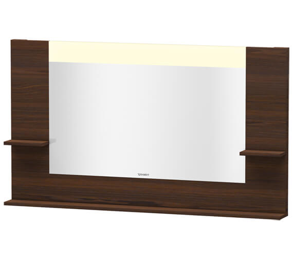 Alternate image of Duravit Vero 1400mm White Matt Mirror With Shelves To Sides And Below