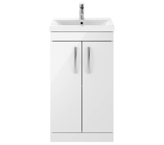 Nuie Premier Athena 500mm 2 Door Floor Standing Grey Alova Unit With Basin 1