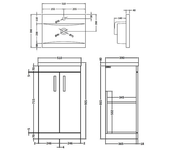 Technical drawing QS-V89263 / ATH004A
