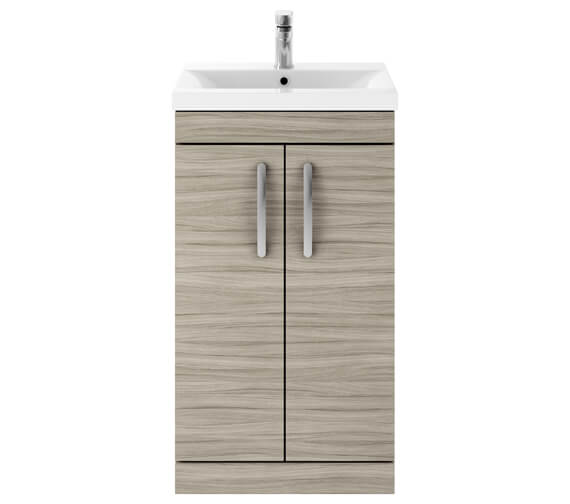Additional image of Nuie Premier Athena 500mm 2 Door Floor Standing Grey Alova Unit With Basin 1