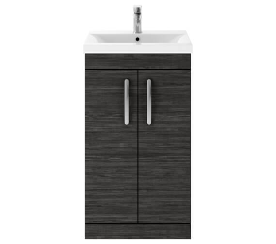 Alternate image of Nuie Premier Athena 500mm 2 Door Floor Standing Grey Alova Unit With Basin 1