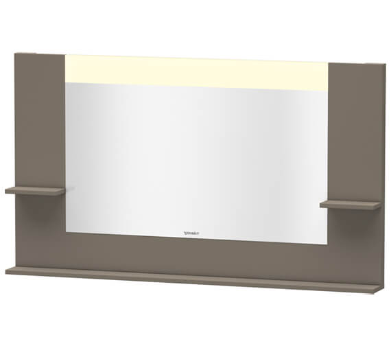 Duravit Vero 1400mm White Matt Mirror With Shelves To Sides And Below