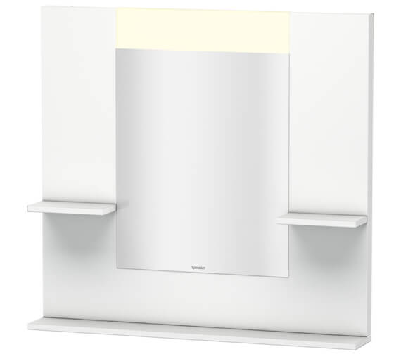 Duravit Vero 850mm White Mirror With Shelves To Sides And Below