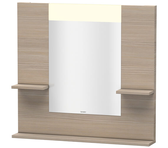 Additional image of Duravit Vero 850mm White Mirror With Shelves To Sides And Below