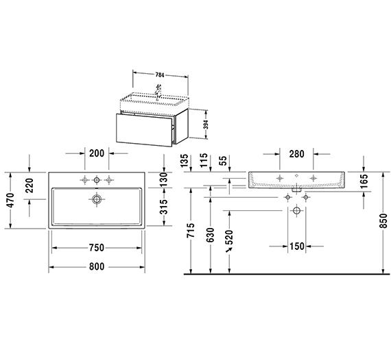 Technical drawing QS-V80785 / LC617701818