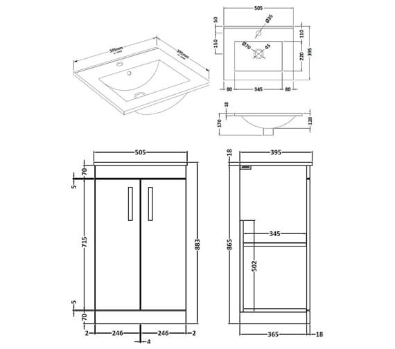 Technical drawing QS-V89264 / ATH004B