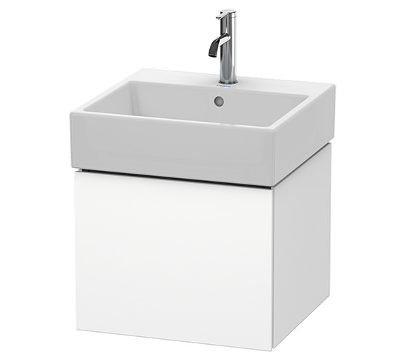 Duravit L-Cube 484mm White Matt Single Drawer Vanity Unit With Vero Air Basin