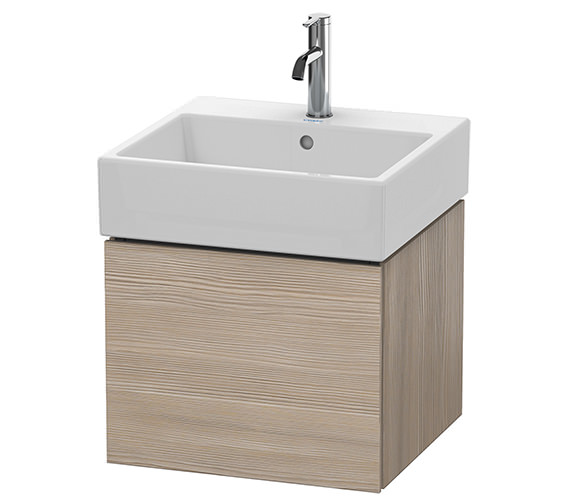 Additional image of Duravit L-Cube 484mm White Matt Single Drawer Vanity Unit With Vero Air Basin