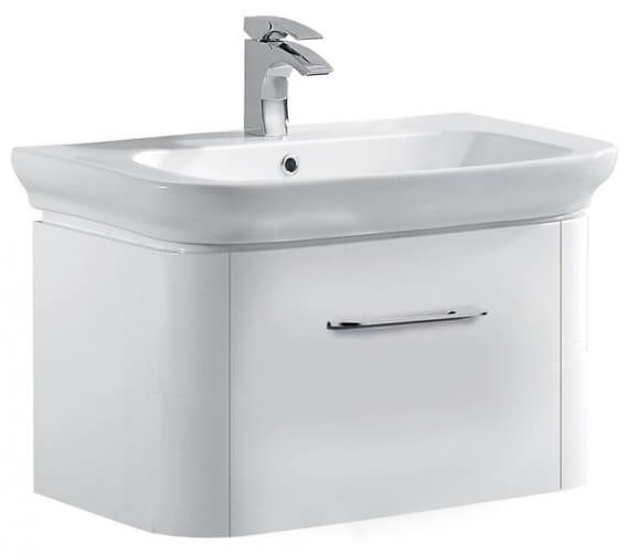 Pura Grace 600mm Vanity Basin With Single Drawer Wall Mounted Unit