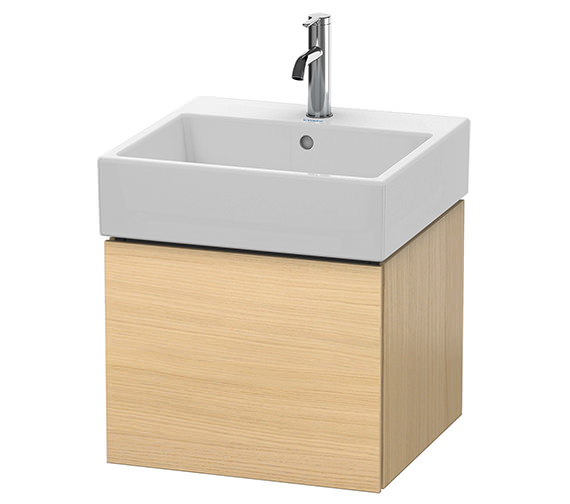 Alternate image of Duravit L-Cube 484mm White Matt Single Drawer Vanity Unit With Vero Air Basin