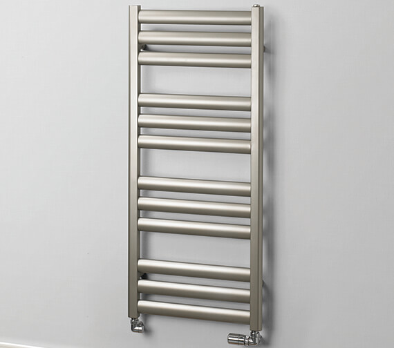 MHS Rads 2 Rails Fulham 500mm Wide Dual Fuel Towel Rail