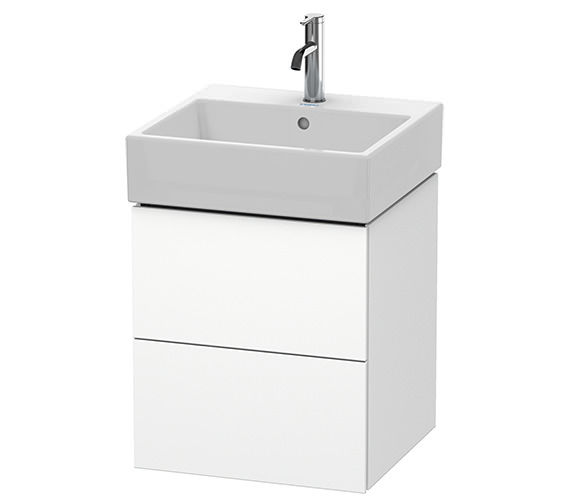 Duravit L-Cube 484mm White Matt 2 Drawer Vanity Unit With Vero Air Basin