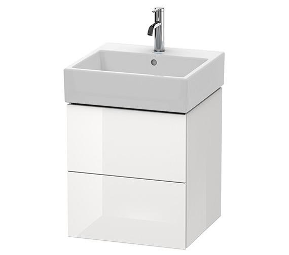 Alternate image of Duravit L-Cube 484mm White Matt 2 Drawer Vanity Unit With Vero Air Basin