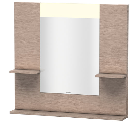 Alternate image of Duravit Vero 850mm White Mirror With Shelves To Sides And Below