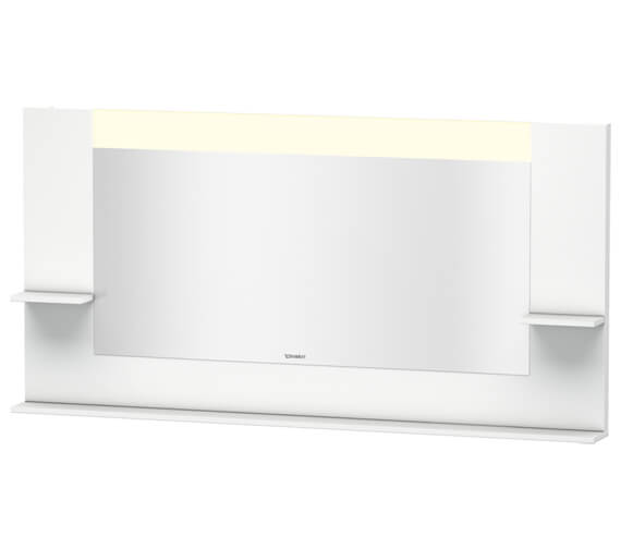 Duravit Vero 1600mm Mirror With Shelves To Sides And Below