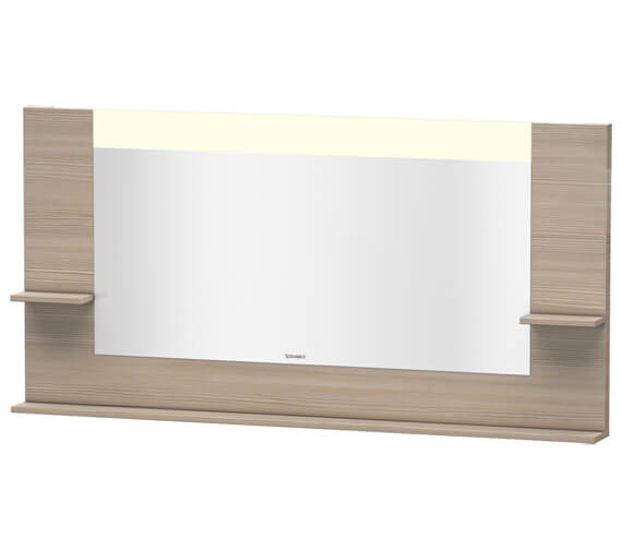 Additional image of Duravit Vero 1600mm Mirror With Shelves To Sides And Below