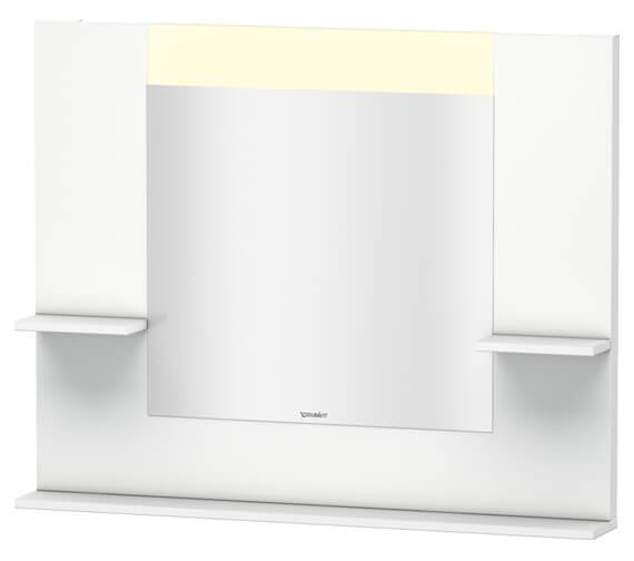 Duravit Vero 1000mm Mirror With Shelves To Sides And Below