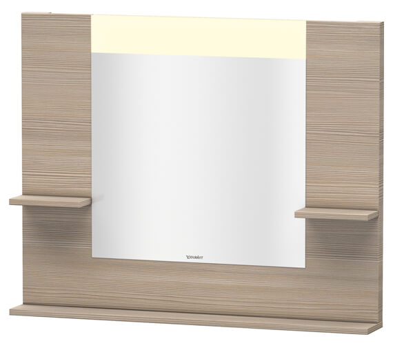 Additional image of Duravit Vero 1000mm Mirror With Shelves To Sides And Below