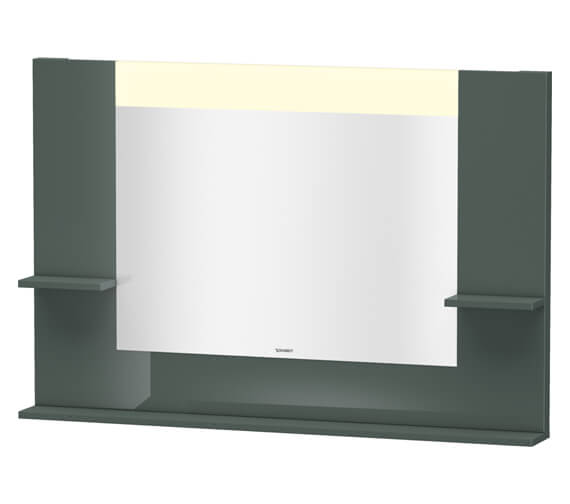 Alternate image of Duravit Vero 1200mm White Matt Mirror With Shelves To Sides And Below