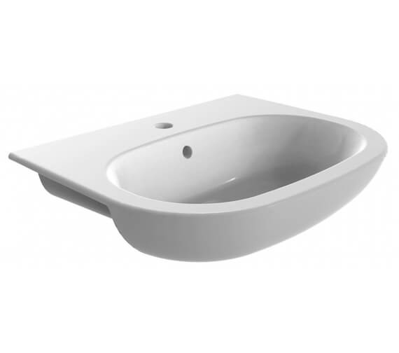 Pura Suburb Round 560mm Semi Recessed Basin With 1 Tap Hole