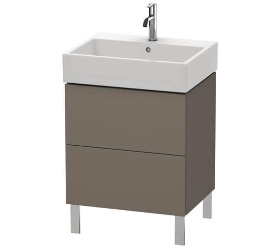 Alternate image of Duravit L-Cube 584mm White Matt Floor Standing Vanity Unit With Vero Air Basin
