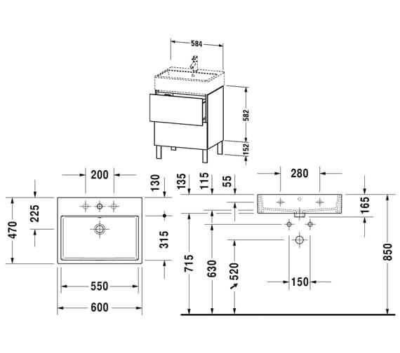 Technical drawing QS-V88398 / LC677401818