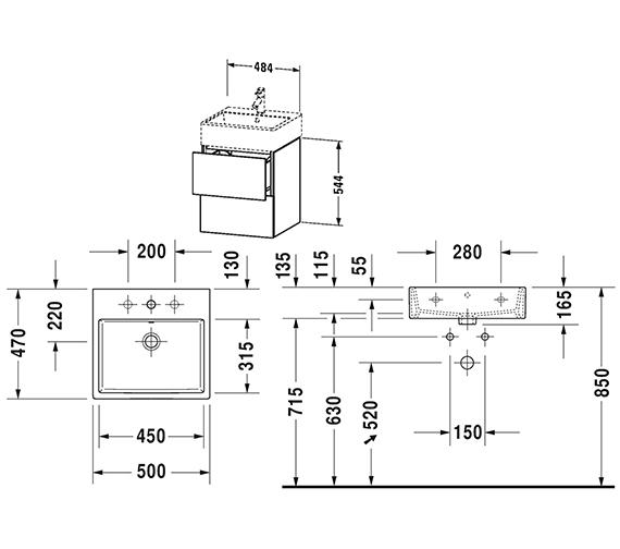Technical drawing QS-V80788 / LC627401818