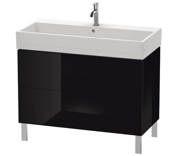 Alternate image of Duravit L-Cube 984mm White Matt Floor Standing Vanity Unit With Vero Air Basin