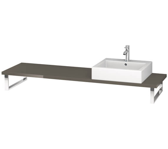 Alternate image of Duravit L-Cube 800 x 480mm Jade High Gloss 1 Cut Out Console