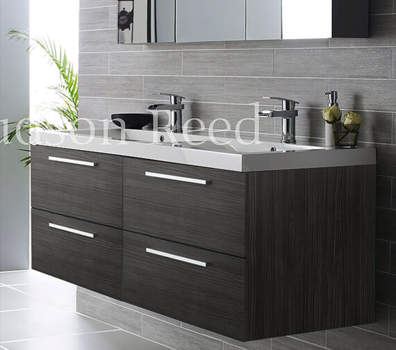Hudson Reed Quartet 1440 x 510mm Wall Hung Cabinet And Double Basin