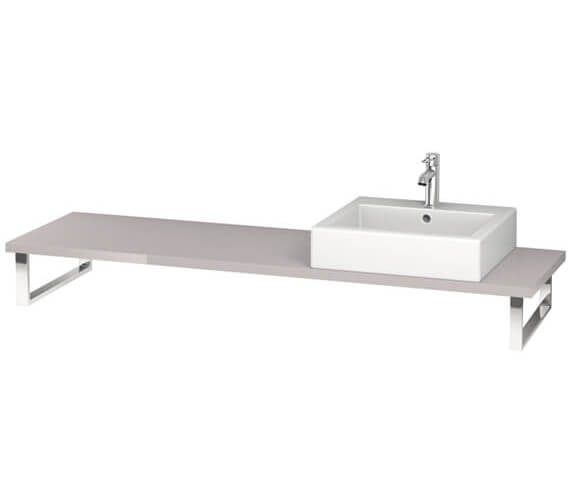 Additional image of Duravit L-Cube 800 x 480mm Jade High Gloss 1 Cut Out Console