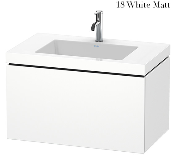 Duravit L-Cube 800mm 1 Drawer Vanity Unit With C-Bonded Basin