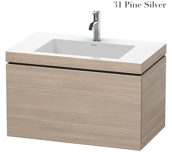 Additional image of Duravit L-Cube 800mm 1 Drawer Vanity Unit With C-Bonded Basin
