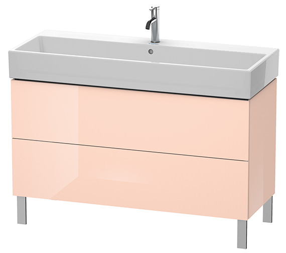 Alternate image of Duravit L-Cube 1184mm White Matt Floor Standing Vanity Unit With Vero Air Basin