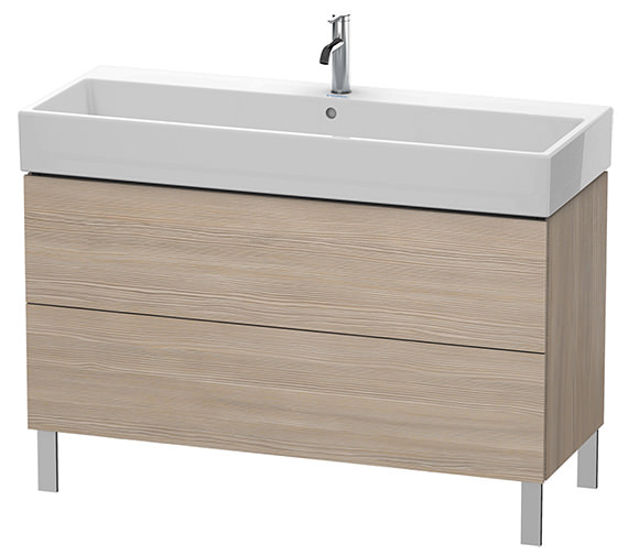 Additional image of Duravit L-Cube 1184mm White Matt Floor Standing Vanity Unit With Vero Air Basin