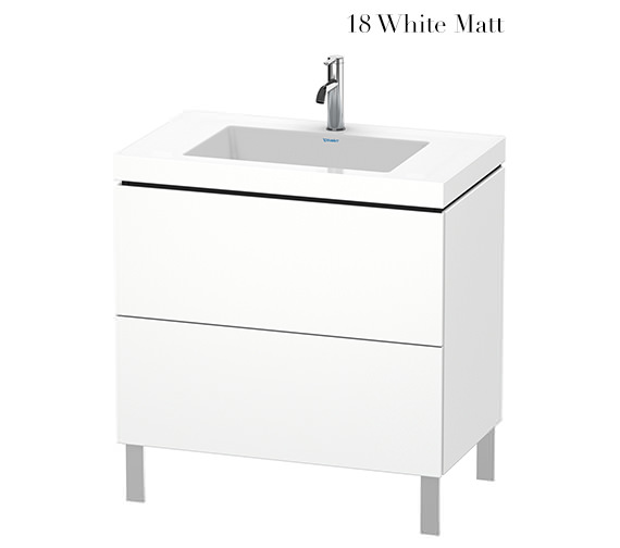 Duravit L-Cube 800mm Floor Standing Vanity Unit With C-Bonded Basin